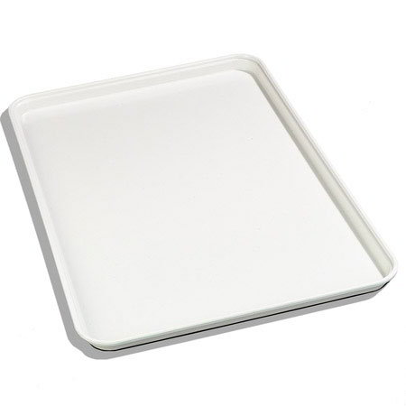 "Carlisle 2618FG001 Rectangular Display/Bakery Tray - 25-5/8x17-7/8x1-1/4"" Bone White"