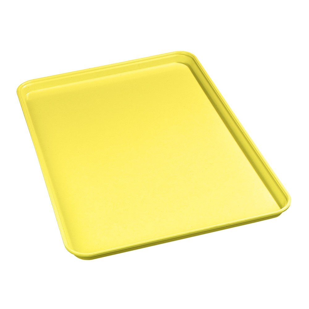 "Carlisle 2618FMTQ302 Rectangular Market Tray - 25-5/8x17-7/8"" Citrus Yellow"