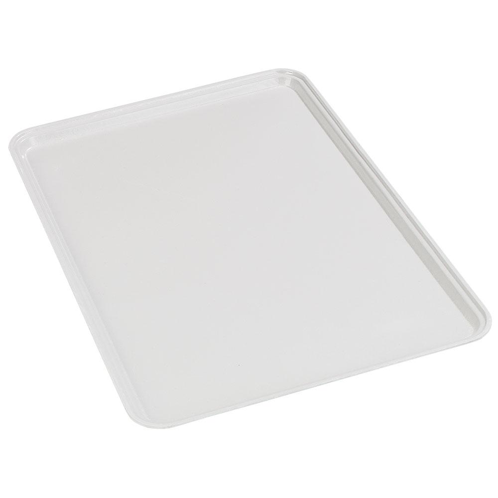 Carlisle 2637FG001 Rectangular Cafeteria Tray - 37x26.5cm, Bone White