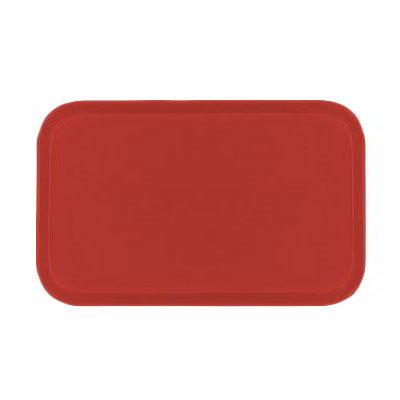 Carlisle 2637FG017 Rectangular Cafeteria Tray - 37x26.5cm, Red