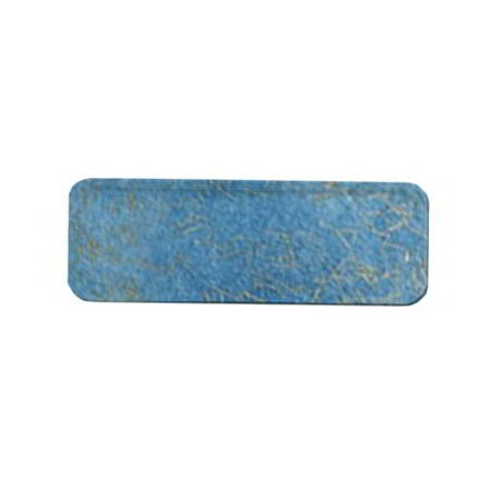 "Carlisle 269DFG029 Rectangular Display/Bakery Tray - 8-3/4x25-1/2"" Starfire Blue"