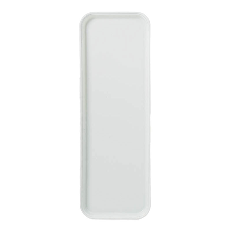 "Carlisle 269FG001 Rectangular Display/Bakery Tray - 8-3/4x25-1/2"" Bone White"