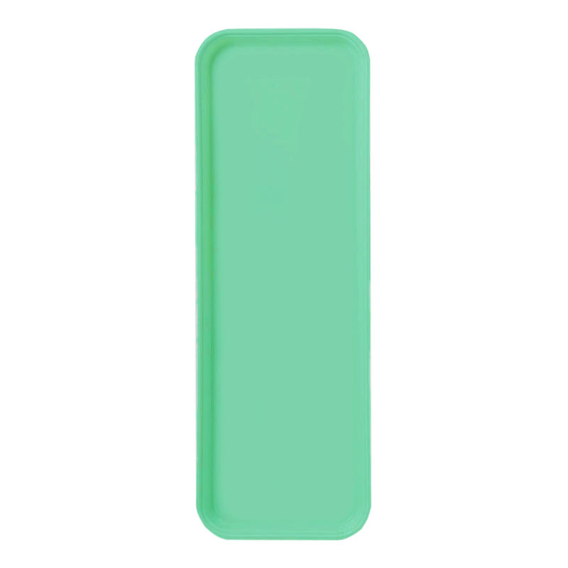 "Carlisle 269FG007 Rectangular Display/Bakery Tray - 8-3/4 x 25-1/2"", Tropical Green"