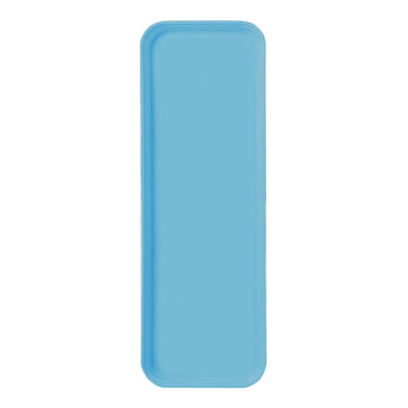 """Carlisle 269FG011 Rectangular Display/Bakery Tray - 8-3/4x25-1/2"""" Turquoise"""