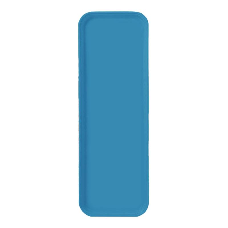 "Carlisle 269FG013 Rectangular Display/Bakery Tray - 8-3/4 x 25-1/2"", Ice Blue"