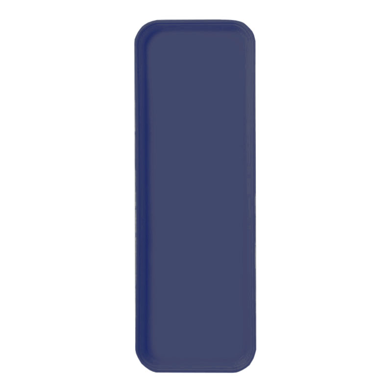 "Carlisle 269FG014 Rectangular Display/Bakery Tray - 8-3/4 x 25-1/2"", Cobalt Blue"