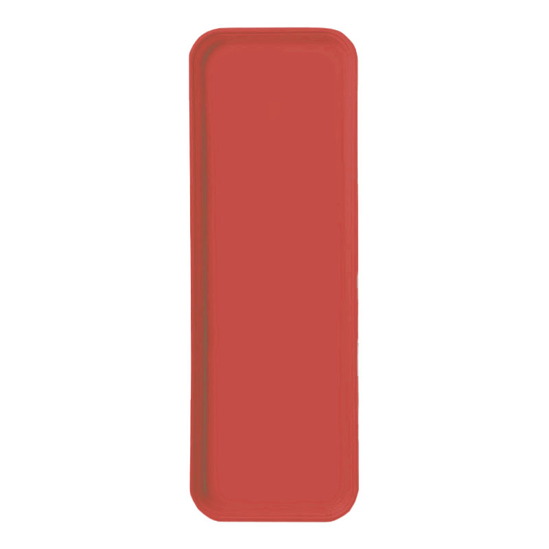 "Carlisle 269FG017 Rectangular Display/Bakery Tray - 8-3/4 x 25-1/2"", Red"