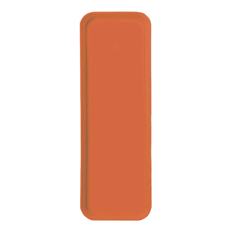 "Carlisle 269FG018 Rectangular Display/Bakery Tray - 8-3/4 x 25-1/2"", Orange"