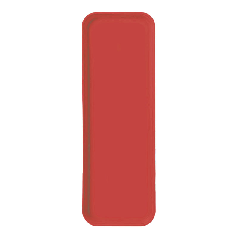 "Carlisle 269FG020 Rectangular Display/Bakery Tray - 8-3/4 x 25-1/2"", Coral"