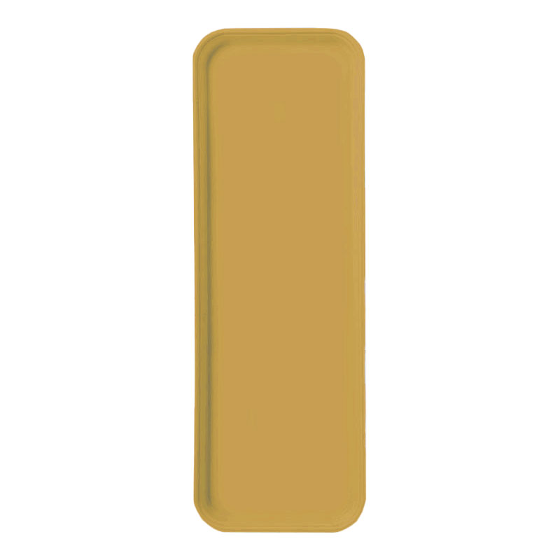 "Carlisle 269FG023 Rectangular Display/Bakery Tray - 8-3/4 x 25-1/2"", Gold"