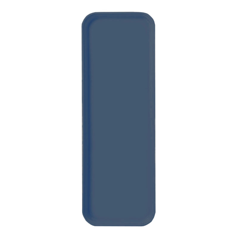 "Carlisle 269FG067 Rectangular Display/Bakery Tray - 8-3/4 x 25-1/2"", Slate Blue"