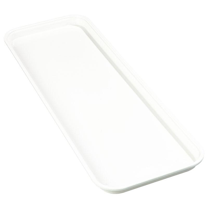 "Carlisle 269FMT301 Rectangular Market Tray - 25-1/2x8-3/4"" Pearl White"
