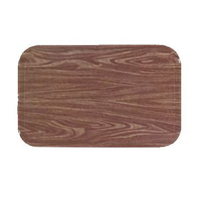 "Carlisle 269WFG063 Rectangular Display/Bakery Tray - 8-3/4x25-1/2"" Pecan Woodgrain"