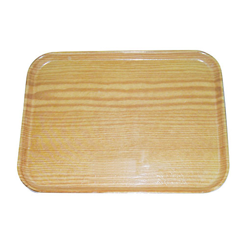 "Carlisle 269WFG065 Rectangular Display/Bakery Tray - 8-3/4x25-1/2"" Light Oak Woodgrain"