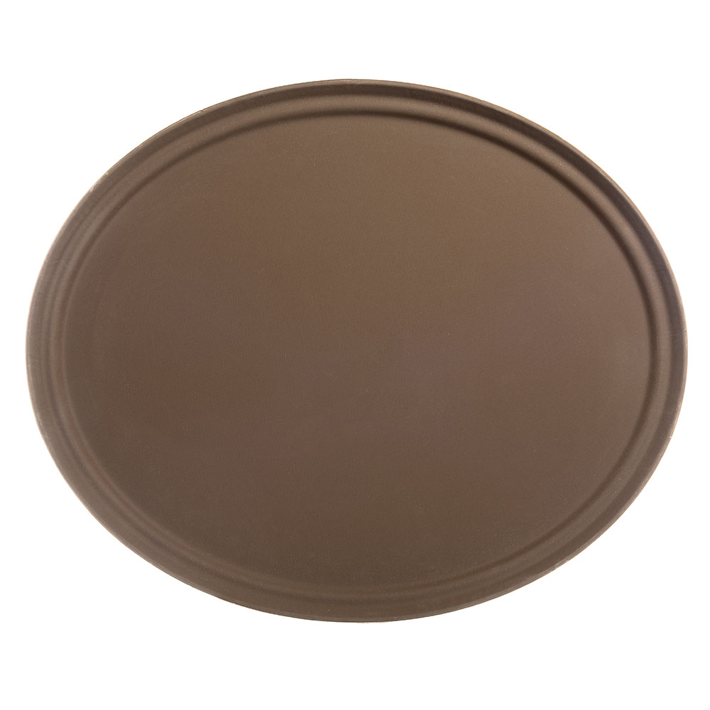 "Carlisle 2700GR076 Oval Serving Tray - 27-1/16x22-5/16"" Tan"
