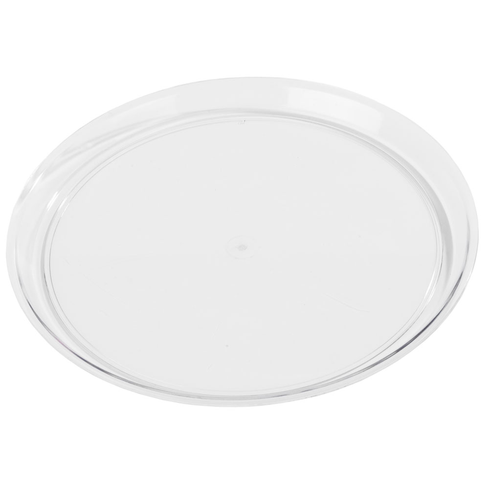 "Carlisle 300407 14"" Round Display Tray - Clear"