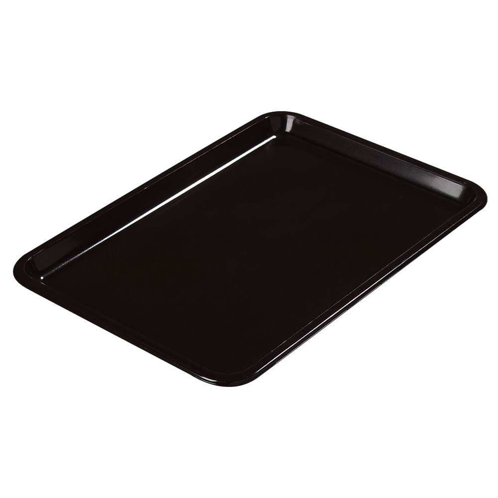 "Carlisle 302203 Rectangular Standard Tip Tray - 6-1/2x4-1/2"" Black"