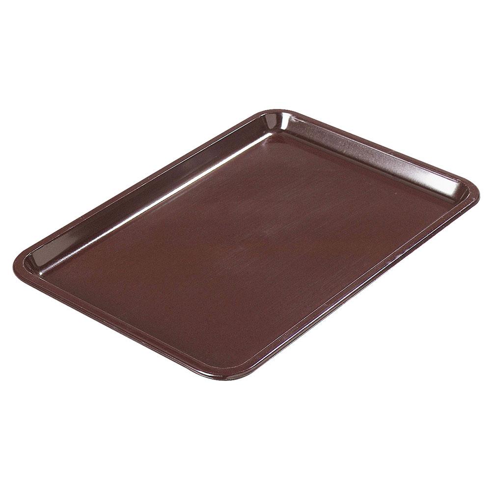"""Carlisle 302201 Rectangular Standard Tip Tray - 6-1/2x4-1/2"""" Brown"""