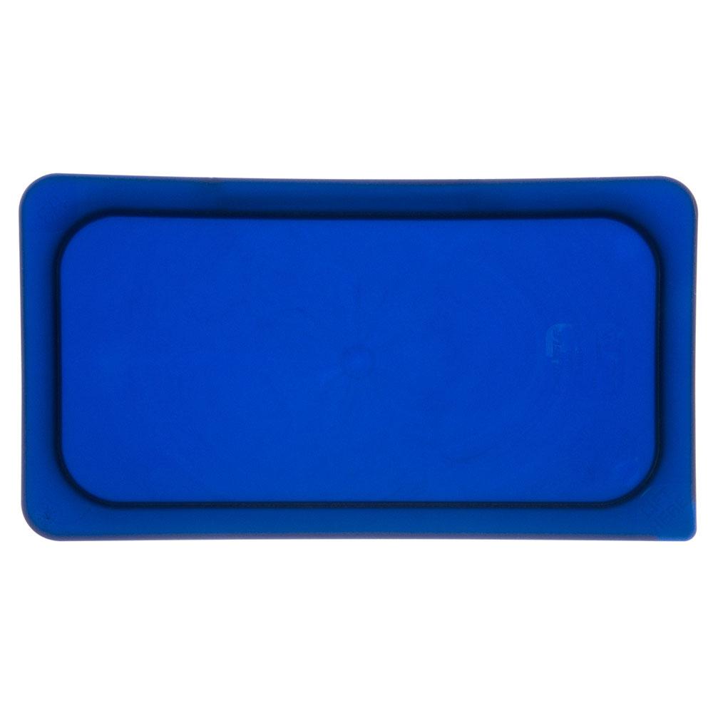 Carlisle 3058060 Third-Size Food Pan Lid - Polycarbonate, Blue