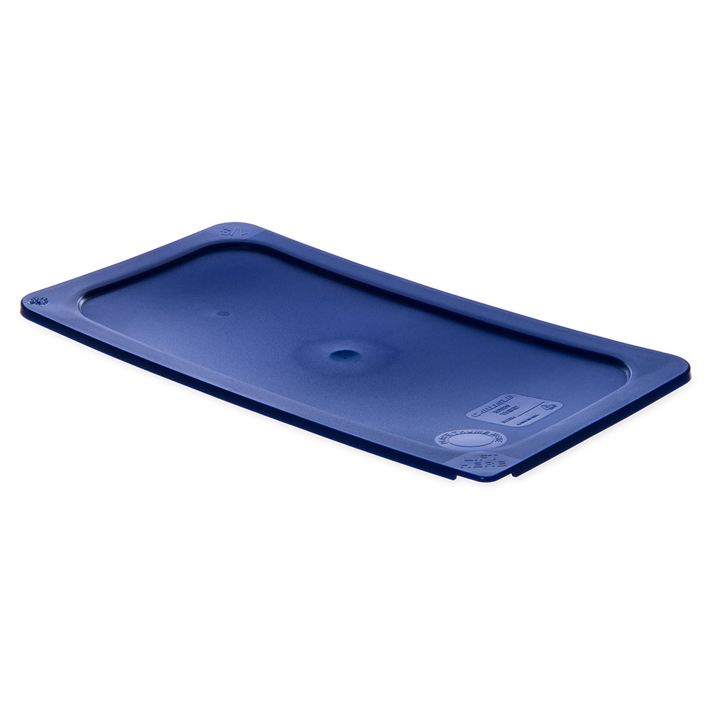 Carlisle 3058060 Third-Size Food Pan Lid - Polycarbonate, Blue