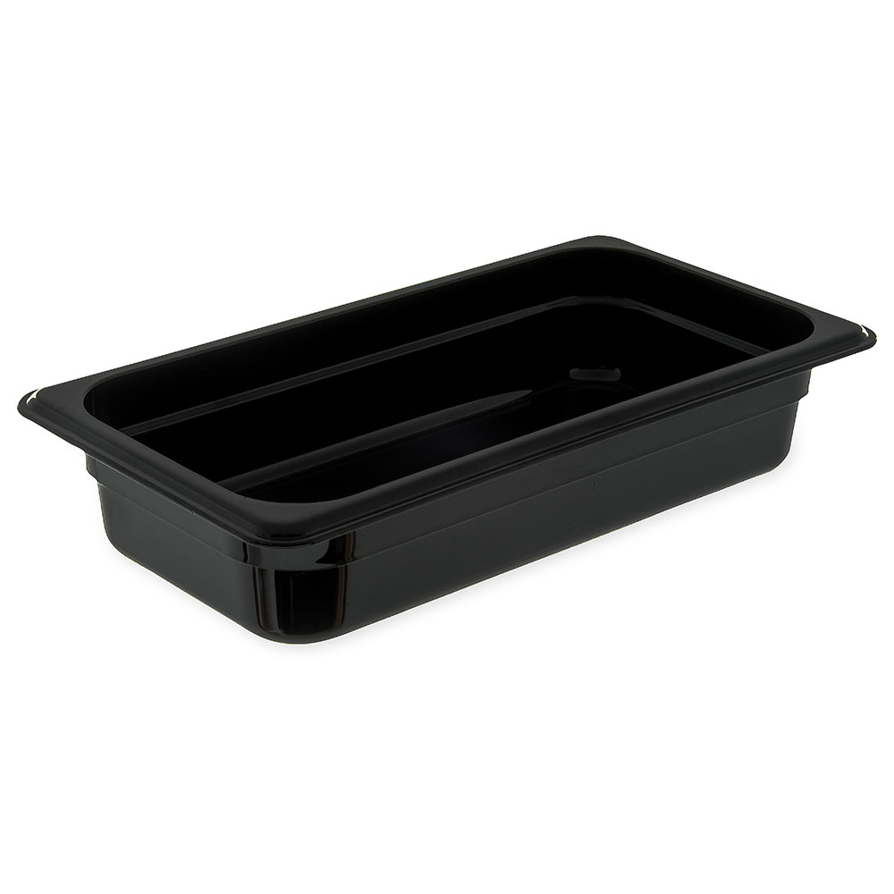 "Carlisle 3066003 1/3 Size Food Pan - 2-1/2""D, Black"