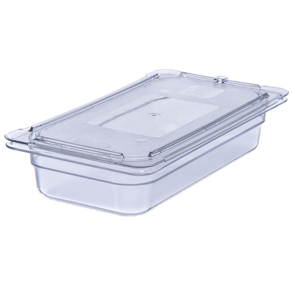 "Carlisle 3066007 1/3 Size Food Pan - 2-1/2""D, Clear"