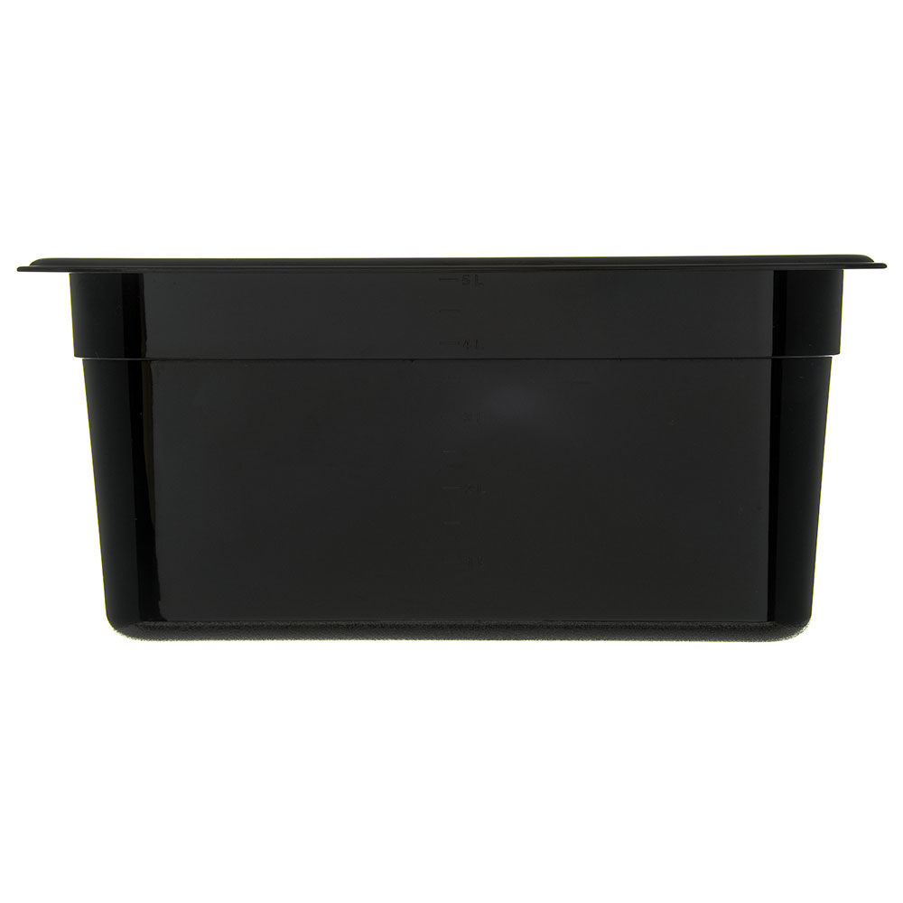 "Carlisle 3066203 1/3 Size Food Pan - 6""D, Black"