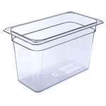 "Carlisle 3066907 1/3 Size Food Pan - 8""D, Clear"