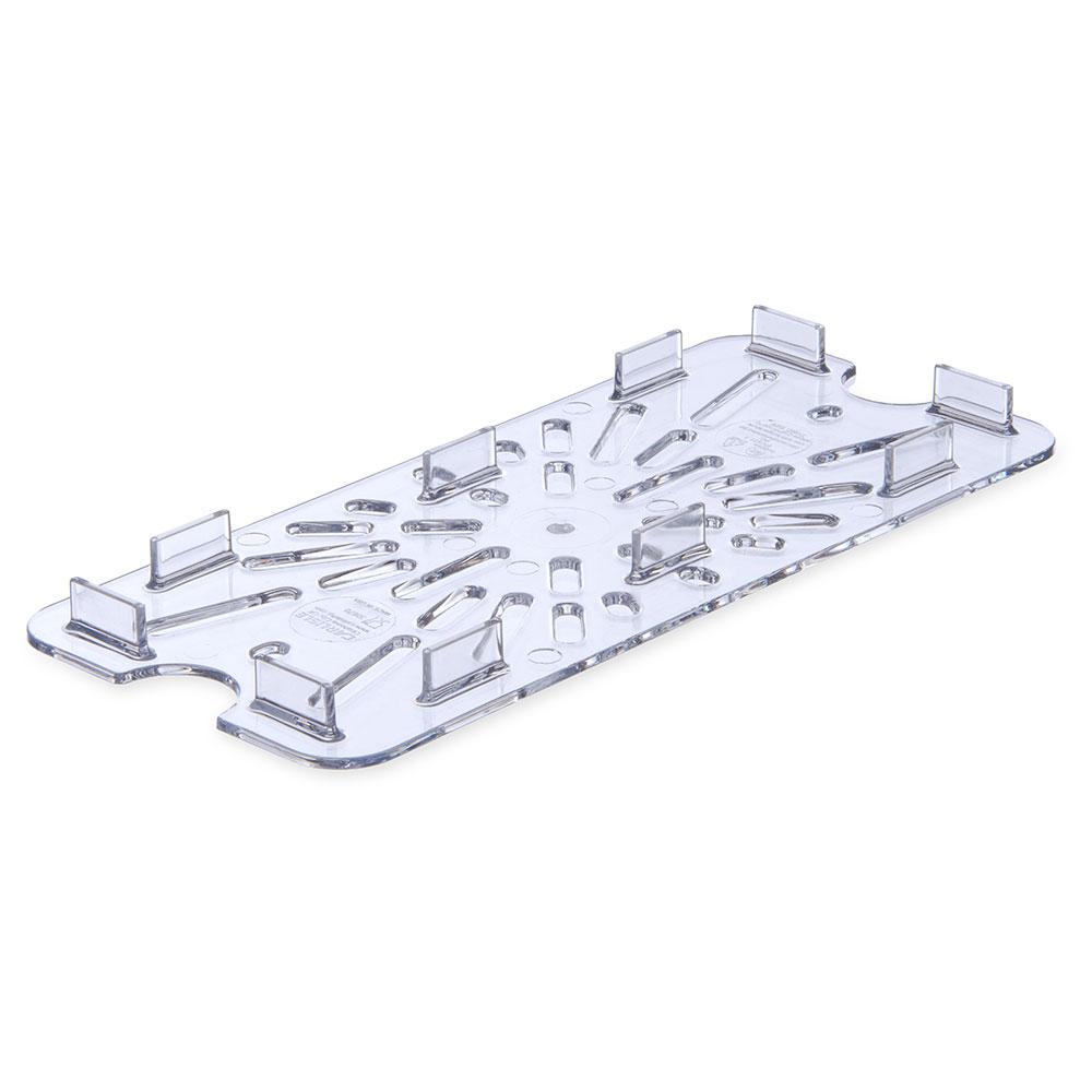 Carlisle 3067007 1/3 Size Drain Shelf - Clear