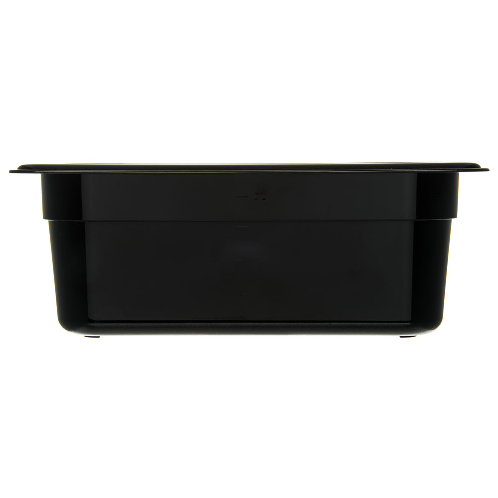 "Carlisle 3068103 1/4 Size Food Pan - 4""D, Black"