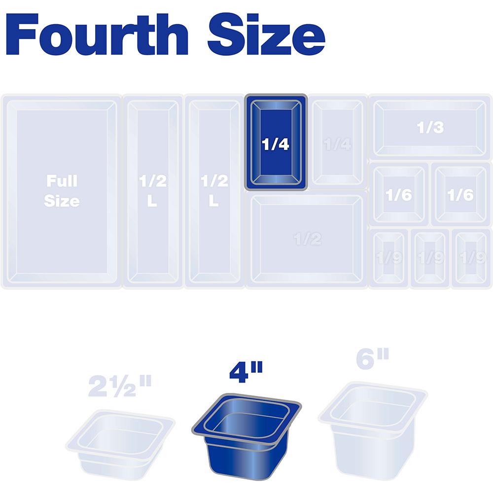 "Carlisle 3068107 1/4 Size Food Pan - 4""D, Clear"
