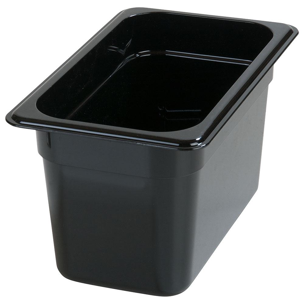 "Carlisle 3068203 1/4 Size Food Pan - 6""D, Black"