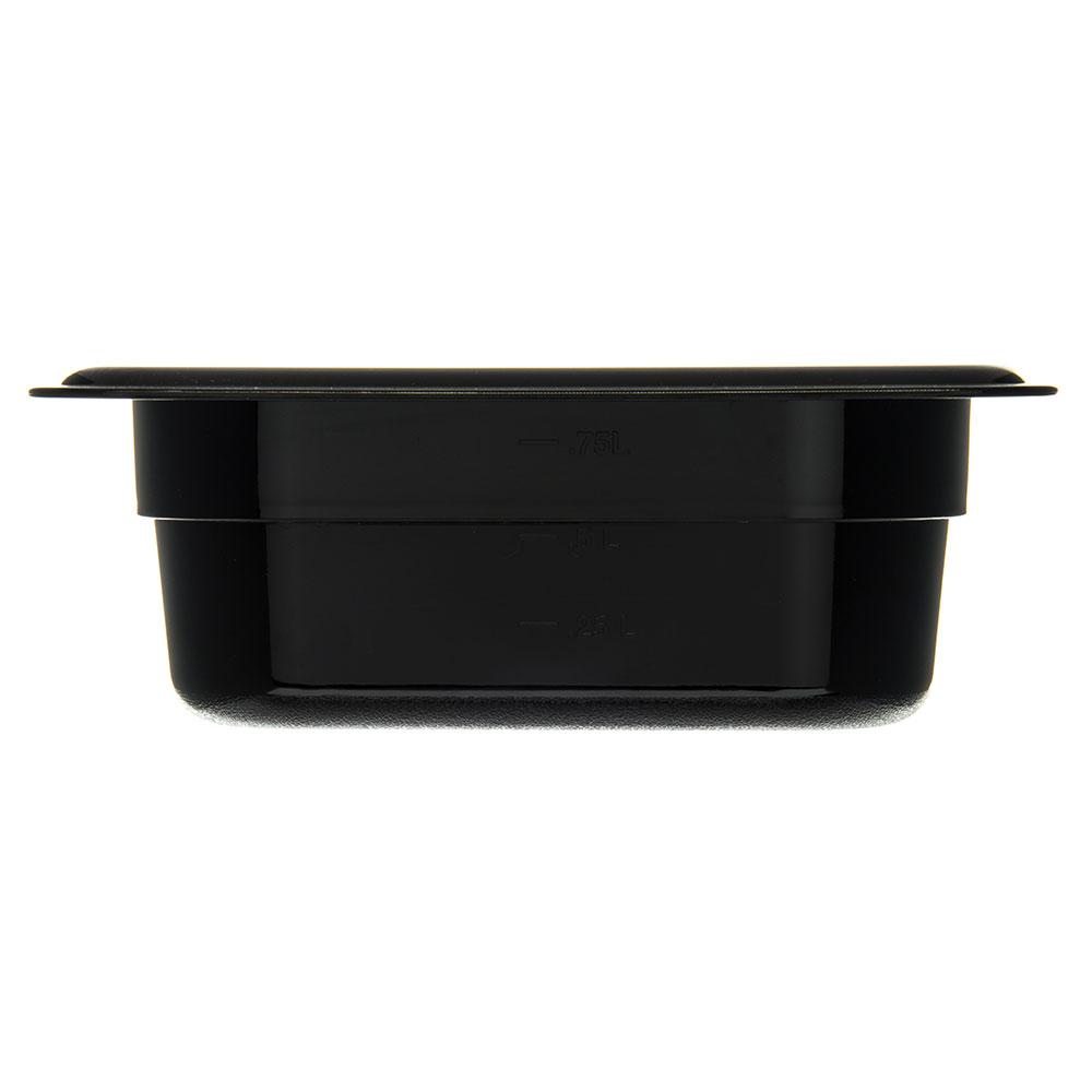 "Carlisle 3068303 1/6 Size Food Pan - 2-1/2""D, Black"
