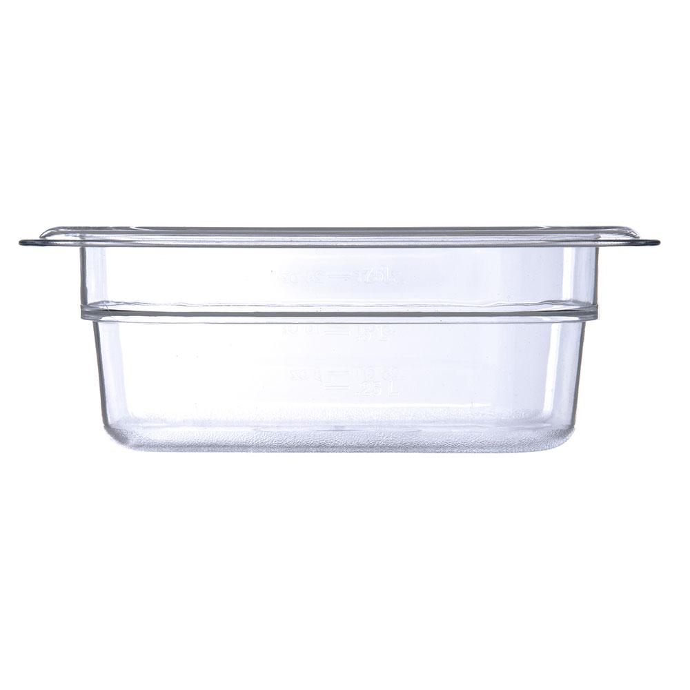 "Carlisle 3068307 1/6 Size Food Pan - 2-1/2""D, Clear"
