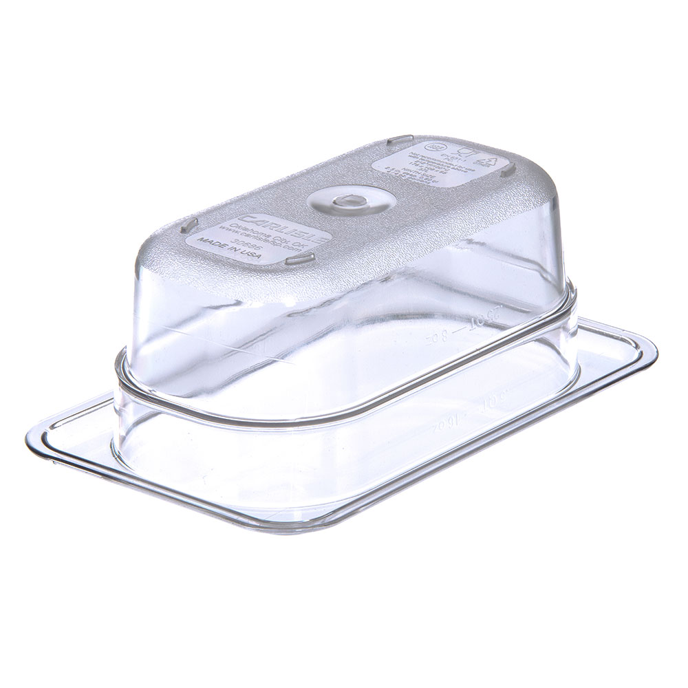 "Carlisle 3068607 1/9 Size Food Pan - 2-1/2""D, Clear"