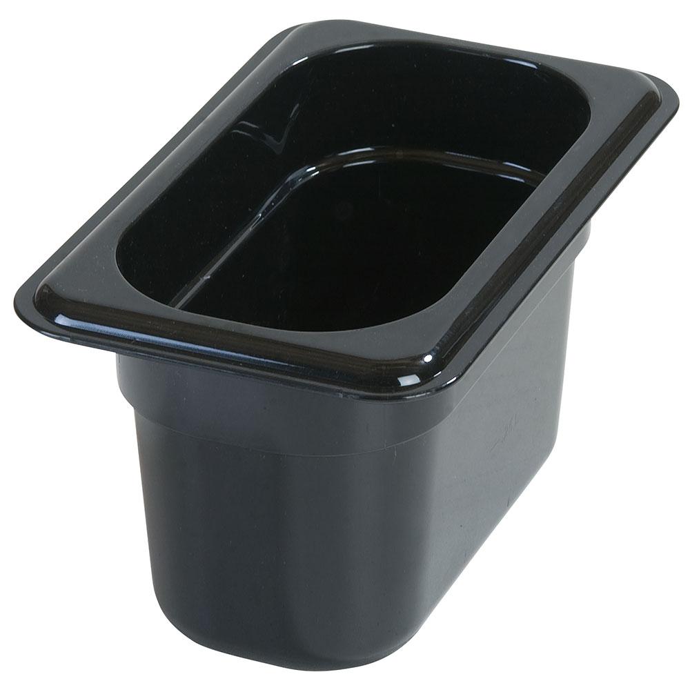 "Carlisle 3068703 1/9 Size Food Pan - 4""D, Black"