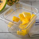 Carlisle 3068907 1/6 Size Drain Shelf for Food Pans - Clear