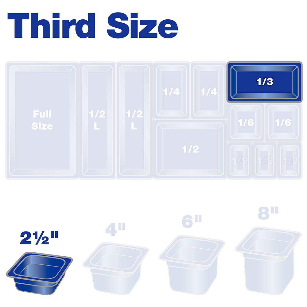 "Carlisle 3086003 High Heat 1/3 Size Food Pan - 2-1/2""D, Black"