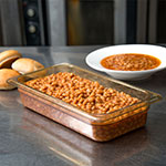 "Carlisle 3086013 StorPlus High Heat Food Pan - 1/3 Size, 2.5""D, Amber"