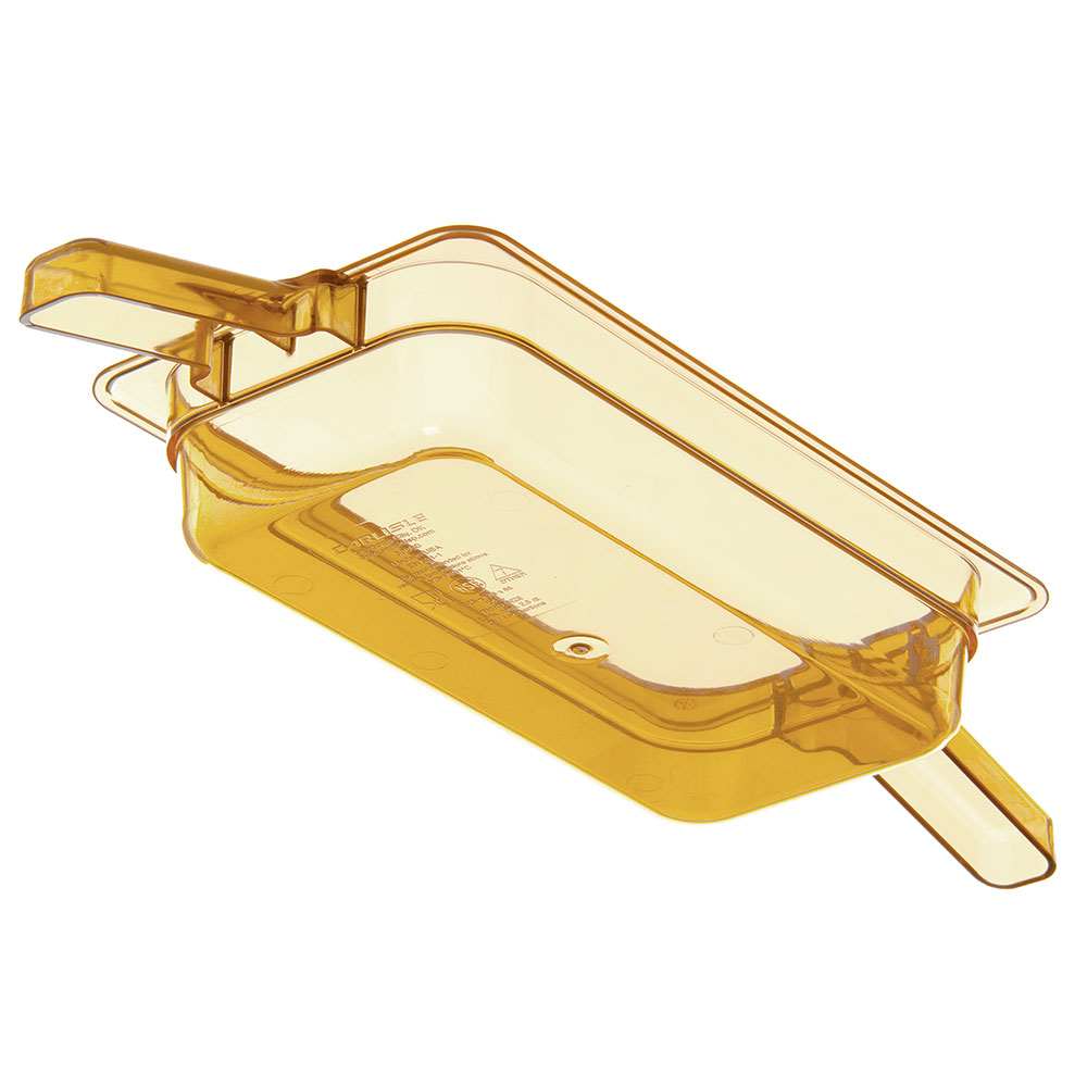 "Carlisle 30860HH13 StorPlus High Heat Food Pan w/ Handles - 1/3 Size, 2.5""D, Amber"