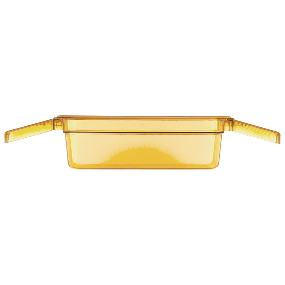 "Carlisle 30861HH13 StorPlus High Heat Food Pan w/ Handles - 1/3 Size, 4""D, Amber"