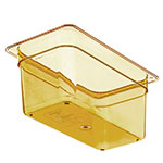 "Carlisle 3086213 High Heat 1/3 Size Food Pan - 6""D, Amber"