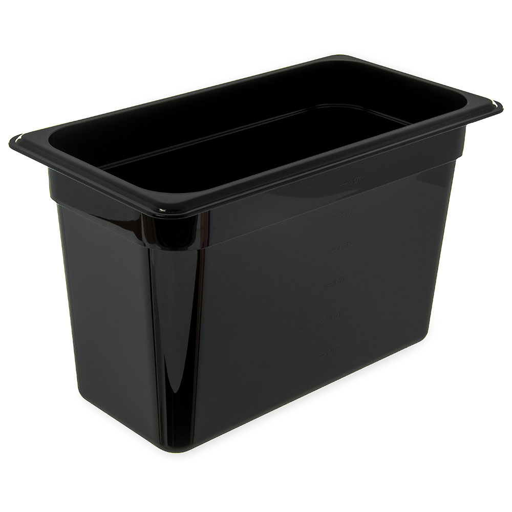 "Carlisle 3086903 StorPlus High Heat Food Pan - 1/3 Size, 8""D, Black"
