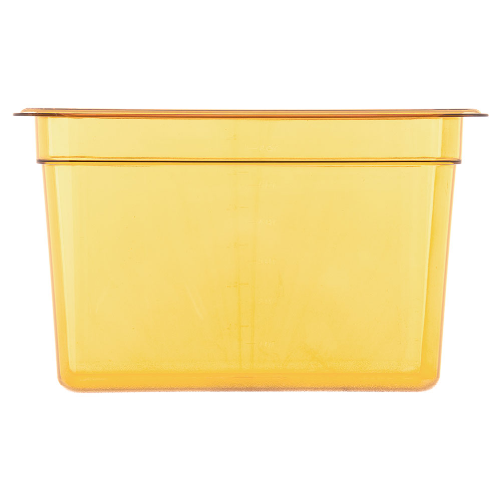 "Carlisle 3086913 StorPlus High Heat Food Pan - 1/3 Size, 8""D, Amber"