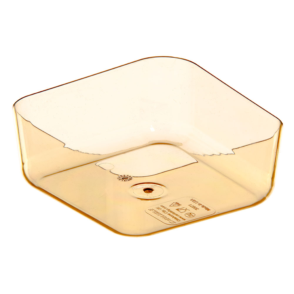 "Carlisle 3087113 StorPlus Divider Insert for High Heat Food Pan - 1/6 Size, 2.5""D, Amber"
