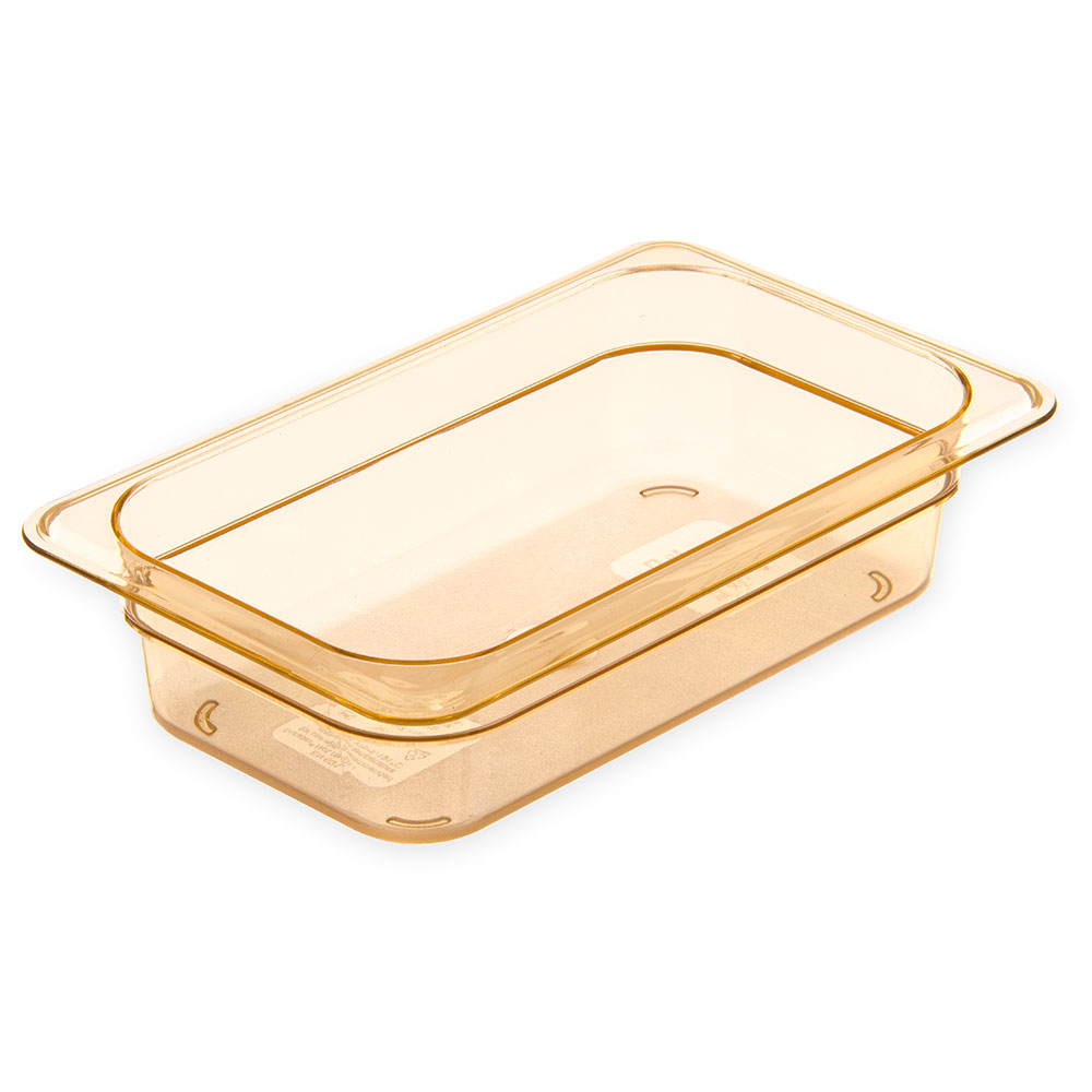 "Carlisle 3088013 StorPlus High Heat Food Pan - 1/4 Size, 2.5""D, Amber"