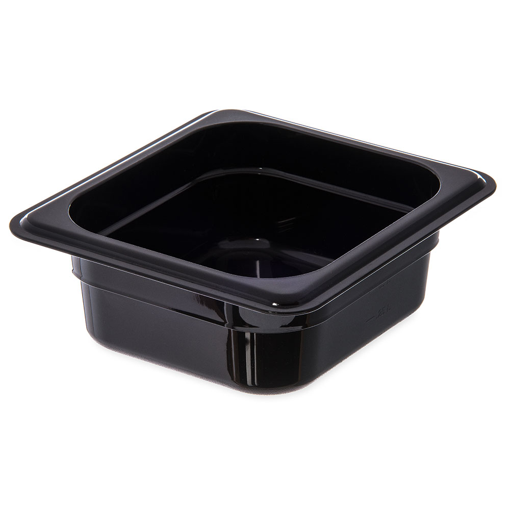 "Carlisle 3088303 StorPlus High Heat Food Pan - 1/6 Size, 2.5""D, Black"