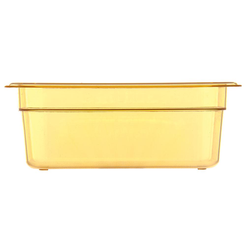 "Carlisle 3088313 StorPlus High Heat Food Pan - 1/6 Size, 2.5""D, Amber"