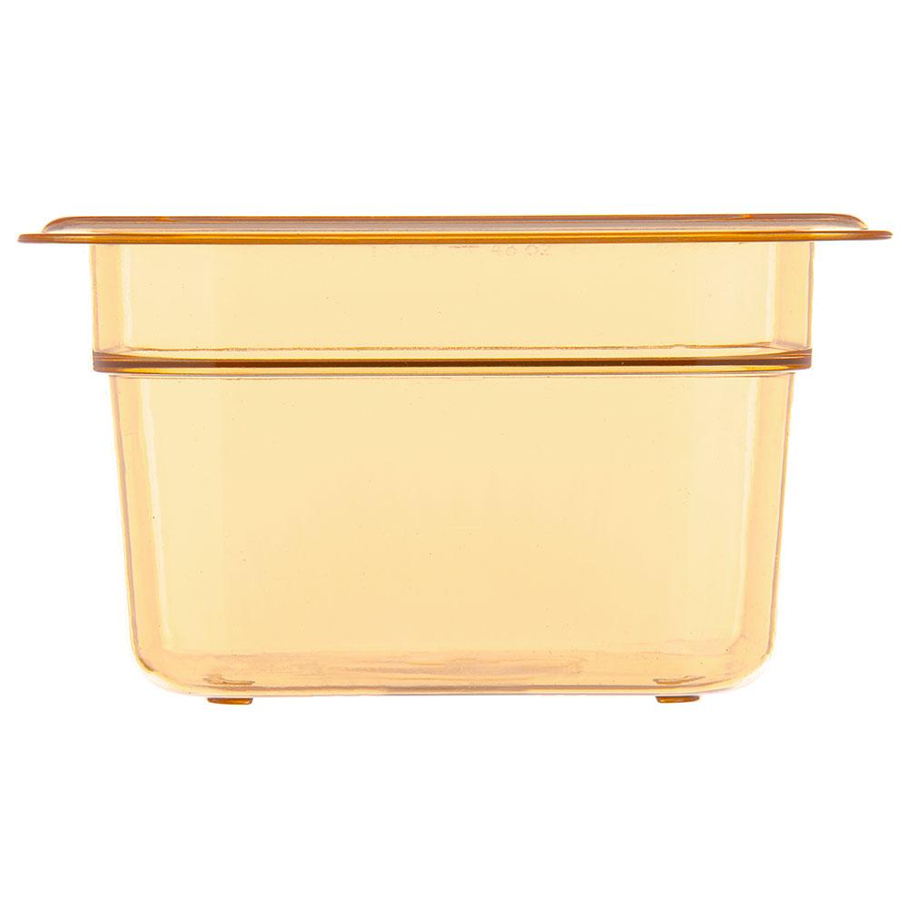 "Carlisle 3088413 StorPlus High Heat Food Pan - 1/6 Size, 4""D, Amber"
