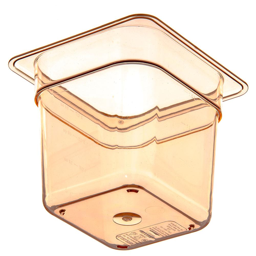 """Carlisle 3088513 High Heat 1/6 Size Food Pan - 6""""D, Amber"""